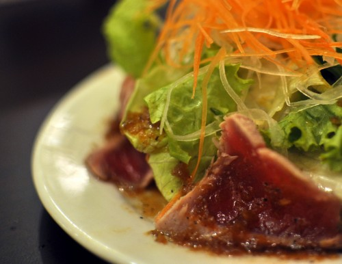 Sashimi Salad with Seared Tuna