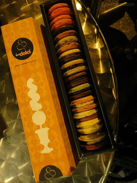 Julls' bought a box of 10 macarons!